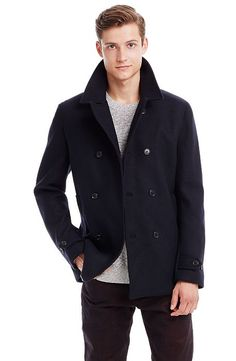 Classic Italian Wool Peacoat - Jackets & Blazers - Mens Sale - Armani Exchange