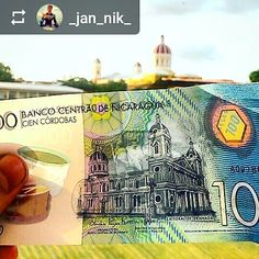 #Follow @_jan_nik_: #Granada #Nicaragua #Cathedral on the 100 #Cordoba bill - #ILoveGranada #AmoGranada #Travel #currency #Nicaraguan