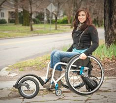 Wheeling Beyond LImits: Add-ons For Your Wheelchair (New Mobility magazine) Some great - though pricey - options here.