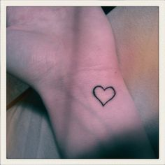 tiny heart wrist tattoo <3