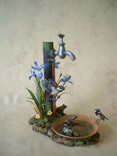Beth Freeman-Kane, M. - Wildlife Miniaturist : Beth Freeman-Kane, M. Miniature Fairy Gardens, Miniature Houses, Deco Nature, Fairy Furniture, Furniture Decor, Fairy Garden Accessories, Paperclay, Miniture Things, Fairy Houses