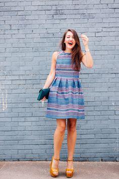 Neon Stripe Fit & Flare - Dallas Wardrobe