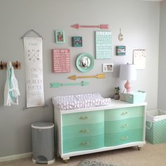We love the look of an ombre finish. It's such a beautiful way to add color and character to a piece! We're happy to share a minty ombré dresser-turned-changing…