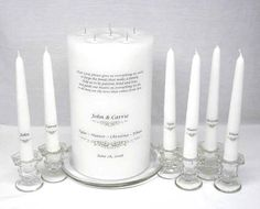 Group unity candle for joining families