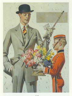 J.C. Leyendecker, original oil painting, illustration art for Kuppenheimer ad.