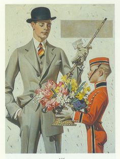 J.C. Leyendecker, original oil painting, illustration art for Kuppenheimer ad.