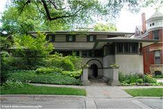 "Mrs. Charles S. Yerkes House 450 Iowa Oak Park, Illinois | Thomas House, ""The Harem"" , 210 Forest Avenue Oak Park, Illinois ..."