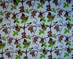 SheetWorld Fitted Pack N Play (Graco) Sheet - Monkey Vine - Made In USA = $14.99