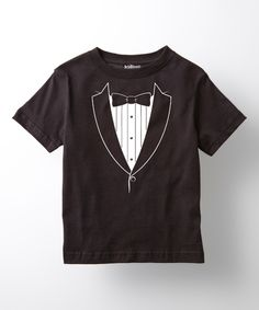 Love this Black Classic Tuxedo Tee - Kids by Tuxedo Tees on #zulily! #zulilyfinds