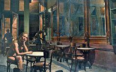 Pavlos Samios - Waiting in the Café Greek Art, Artist, Waiting, Artists