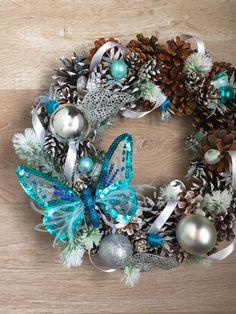 """Купить Новогодний венок """"Морозный"""" - самара декор, москва декор, новогодний сувенир, новогодний подарок"""