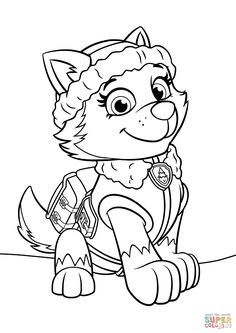paw patrol everest coloring pages printable and coloring book to print for free. Find more coloring pages online for kids and adults of paw patrol everest coloring pages to print.
