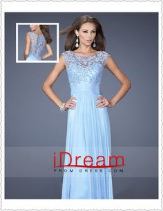 New Arrival Neckline Embellished Tulle Bodice With Beaded Applique Chiffon prom dresses