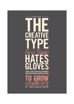 Self Promotion Poster by Katie Baxendale, via Behance