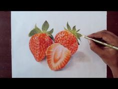 Drawing strawberry - Prismacolor Pencils - YouTube