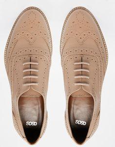 Imagen 3 de Zapatos Oxford de cuero MATCHED de ASOS