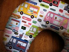 Food Truck Boppy Cover Fun Foodie Designer Print by BixbyBasil, $25.00 | See more about food trucks, nursing pillow and foodies.