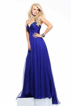 A-line Chiffon Sweetheart Empire Floor-Length Beading,Ruching Prom Dress | Cheap prom dresses Sale
