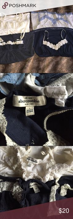 Lot of Abercrombie and Fitch tank tops Four gently used Abercrombie and Fitch tank tops sizes small Abercrombie & Fitch Tops Tank Tops