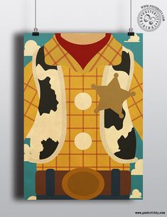 Woody (Toy Story) Minimal Torso Designs by Posteritty #minimalposters #IconicCostumes #FamousOutfits #posteritty #MinimalistPosters #PosterittyStyle