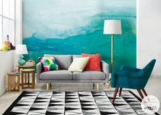 Living room. Ombre wall mural • Inspirations • PIXERSIZE.com
