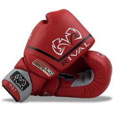 Rival High Performance Lace-Up Pro Sparring Gloves - Red - Sugar Ray's Boxing Equipment Store - Sugar Ray's Boxing Equipment Store