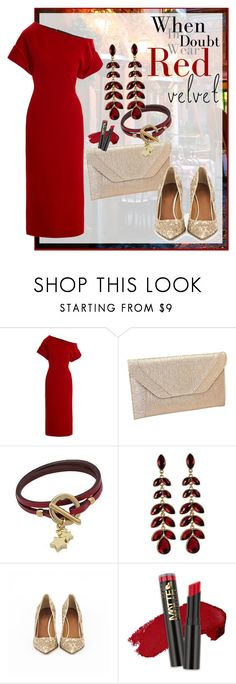 """""""Red Velvet"""" by shoppe23 ❤ liked on Polyvore featuring Christopher Kane, Givenchy, L.A. Girl and velvet"""