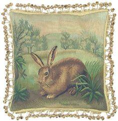 Rabbit Aubusson pillow