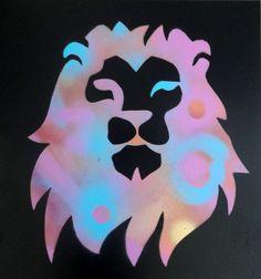 Acrylic Spray Paint Art  Animal  Lion