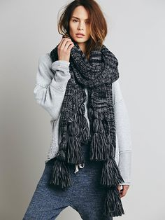 Spratters and Jayne Exaggerated Tassel Wrap at Free People Clothing Boutique Style: 33814815 $240