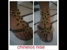 Chinelo decorado - Fita de cetim, manta de strass e penduricalhos - YouTube Flip Flop Craft, Decorating Flip Flops, Beaded Sandals, Macrame Projects, Huaraches, Diy And Crafts, Jewelry Making, Slippers, Fancy