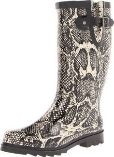 Chooka Women's Snakes Rain Boot Chooka. $54.90. Treaded outsole. Moisture absorbent lining. Removeable insole. Pull-on construction. Rubber sole. Natural rubber rain boot. 100% Natural Rubber
