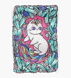 Unicorn  kitty Poster