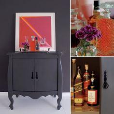 Para personalizar a decoração, fuja do óbvio. Em vez de armários e cômodas tradicionais, invista em móveis clássicos que, após reforma, restauro ou pintura, ganham usos diferentes e destacam-se em qualquer ambiente