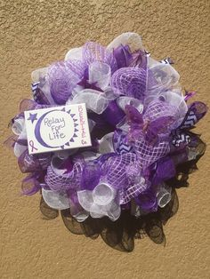 Relay for life wreath
