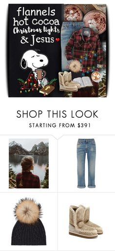 """flannels,hot cocoa, christmas lights & Jesus"" by eilselrenrag ❤ liked on Polyvore featuring Urban Renewal, R13, M. Miller, Trilogy, Christmas, Jesus and snoopy"