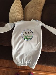 Monogram Baby Nighty by YoursTruly10 on Etsy