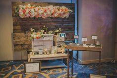 Exquisite Wedding Magazine event~ wood, shabby chic, vintage furniture, spring florals, classy, creams, whites, pinks, orange Lauren Sharon Vintage Rentas and Design