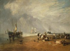 Turner and the Sea exhibition at the National Maritime Museum - Telegraph. Fishmarket on the sands, Hastings.