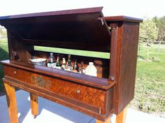 Vintage Upright Piano made into a Bar