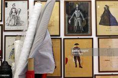 Illustrations by costume designer Piero Tosi ar shown at the Tirelli... Foto di attualità | Getty Images