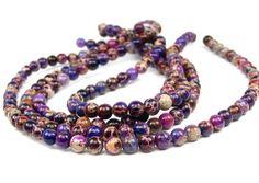 4mm Aqua Terra Jasper round gemstone Beads  by LifeForceGems,