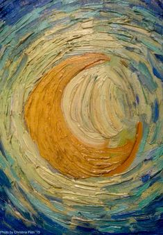 Close-Up Of Moon From 'Starry Night' by Van Gogh by btrixkddo on DeviantArt