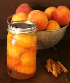 Honey and Cinnamon honey cinnamon canned peaches (no sugar required!)honey cinnamon canned peaches (no sugar required!)with Honey and Cinnamon honey cinnamon canned peaches (no sugar required!)honey cinnamon canned peaches (no sugar required! Canning Tips, Canning Recipes, Canning Corn, Canning Food Preservation, Preserving Food, Canning Peaches, Canned Food Storage, Honey And Cinnamon, Cinnamon Sticks