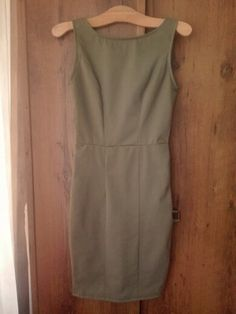 Retro pencil olive millitary dress