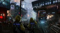 Classic Cyberpunk City - Sci-Fi Illustration