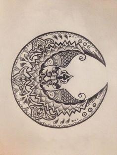 paisley moon tattoo - Google Search