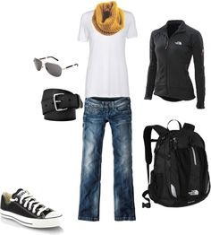 """Brisk Walk to Campus"" by acushman on Polyvore"