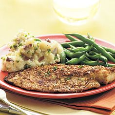 Almond-crusted tilapia (from Cooking Light)