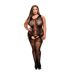 If you're looking for erotic items at a great price, discover Suspender Jumpsuit Queen Size Baci Lingerie A world of possibilities for the . Nylons, Babydoll, Spandex, Clothing Websites, Plus Size Lingerie, Mullets, Catsuit, Queen Size, Crochet